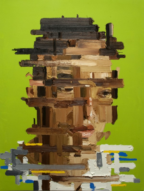 Erik Olson, Green Portrait, Grid