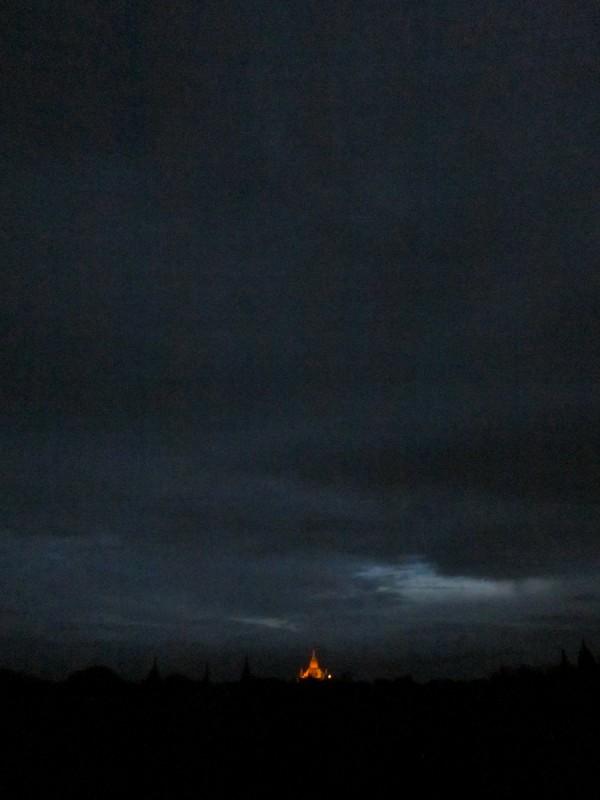Burmese buddhist pagoda at sunrise, Myanmar