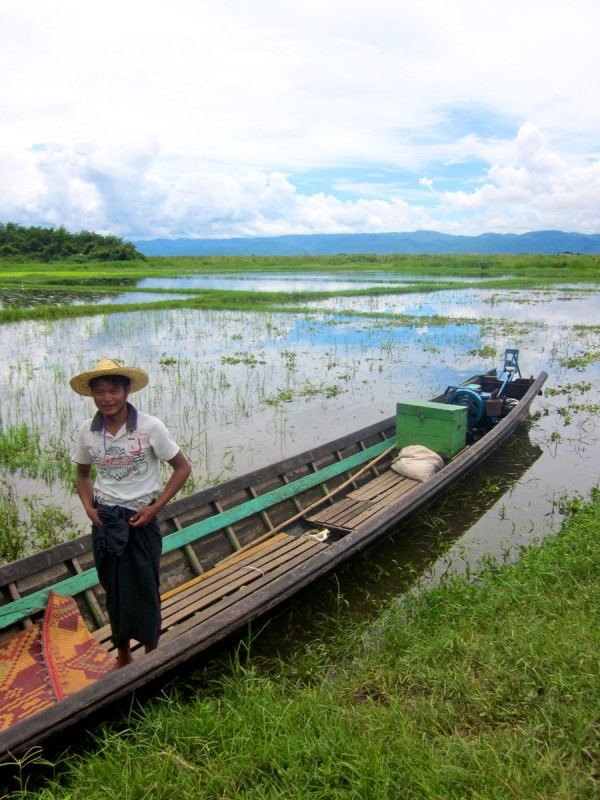Boatman at Inle Lake, Myanmar