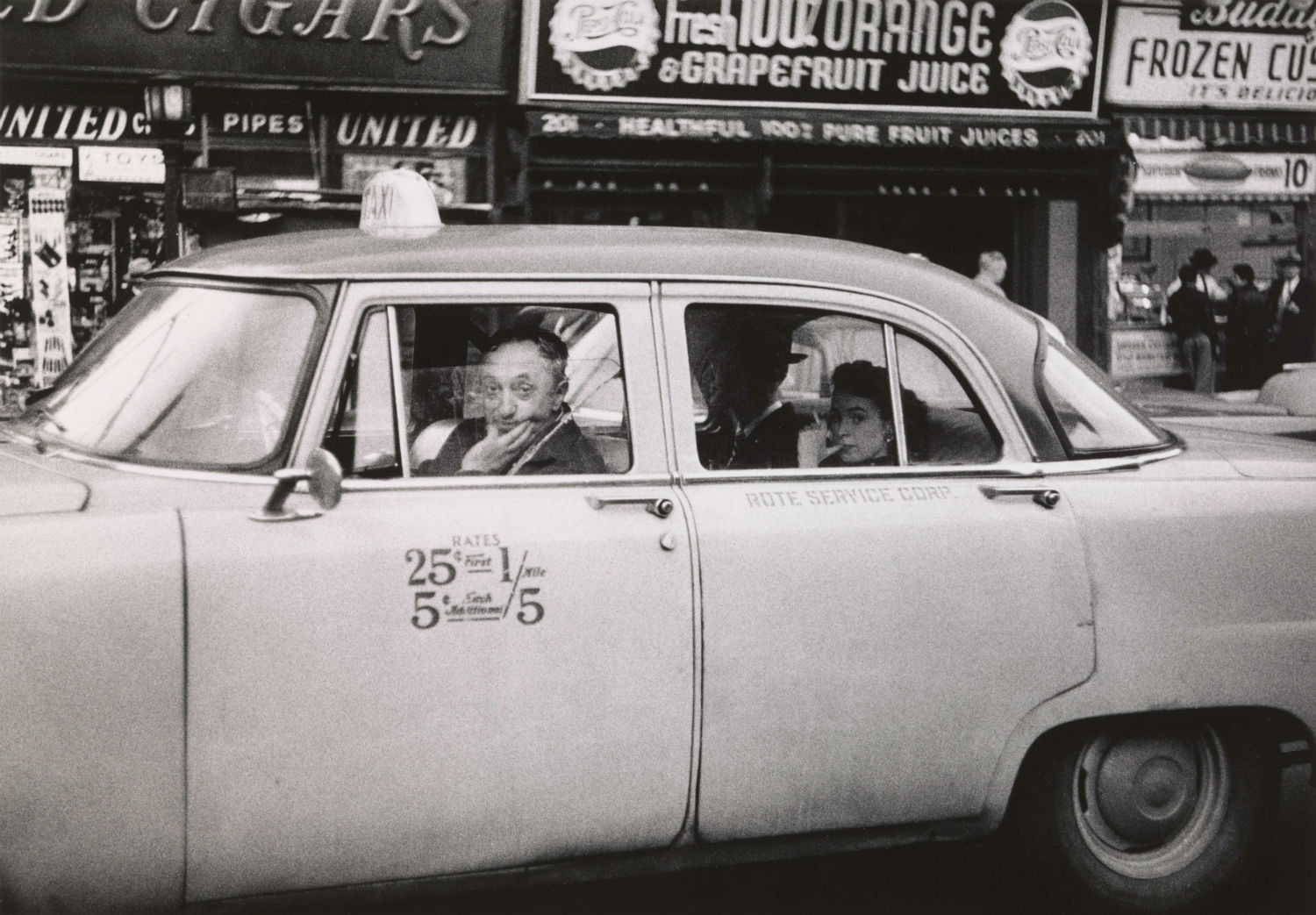 6.-Taxicab-driver-at-the-wheel-with-two-passengers-N.Y.C.-1956